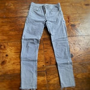 Zara striped skinny jeans